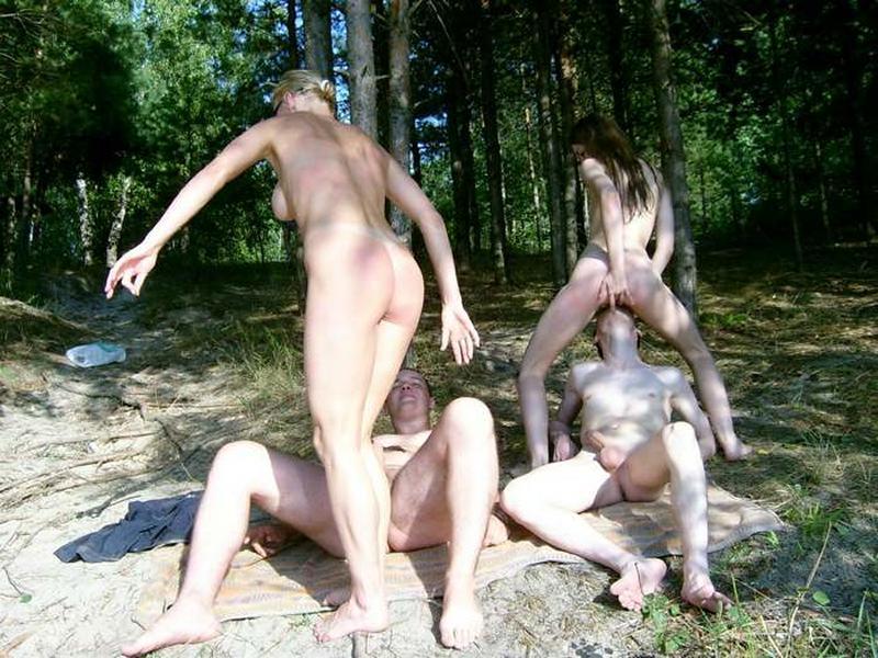 секс с колхозницей в лесу