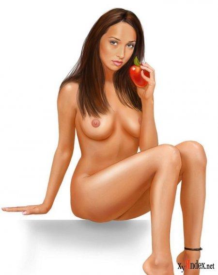 Рисованные картинки голой актрисы — photo 13