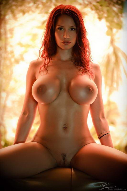 Рыжая с большими сиськами эротика