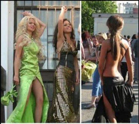 Болгарские выпускницы в раскованных нарядах (ФОТО)