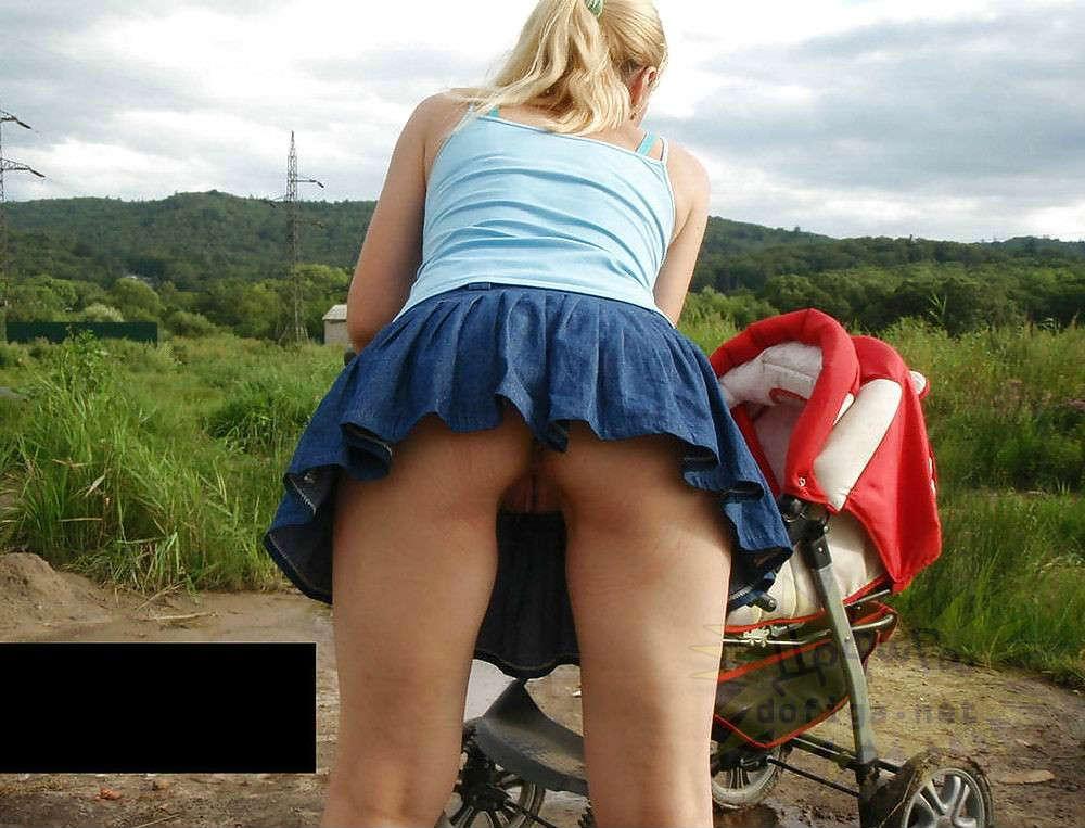 Девушка с коляской порно