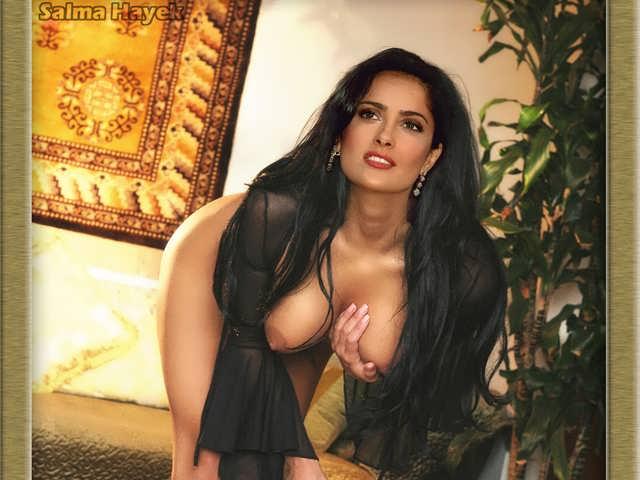 Порно с сальма блэк