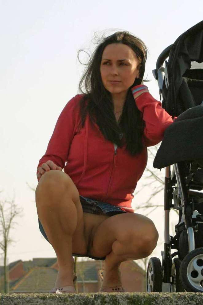 Мамочка с коляской порно