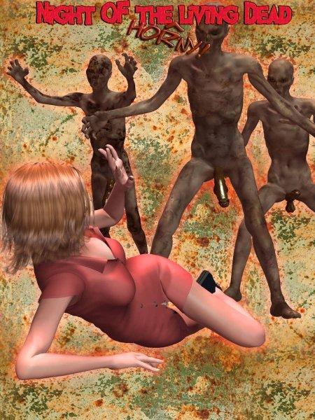 страшные зомби насилуют девушку порно комикс
