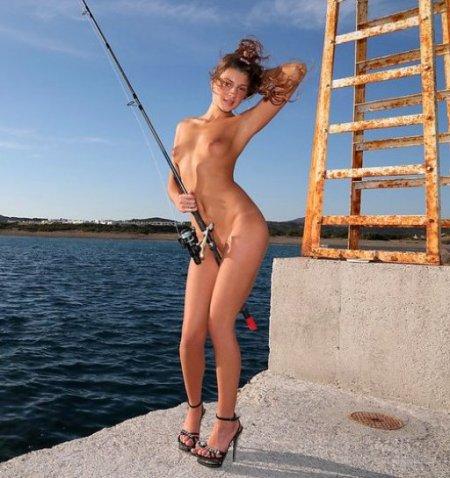 Девушки с которыми не скучно на рыбалке (ФОТО)