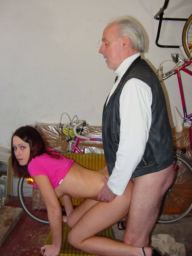 Young girl wrestles mature woman