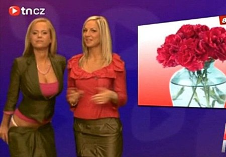 Чешский вариант с голыми телеведущими (ВИДЕО)