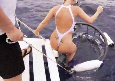 Акула вероломно напала на порнозвезду (ВИДЕО)
