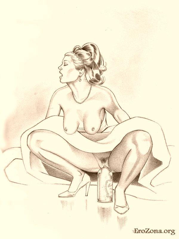 Черно белые рисованные порно рисунки — 12