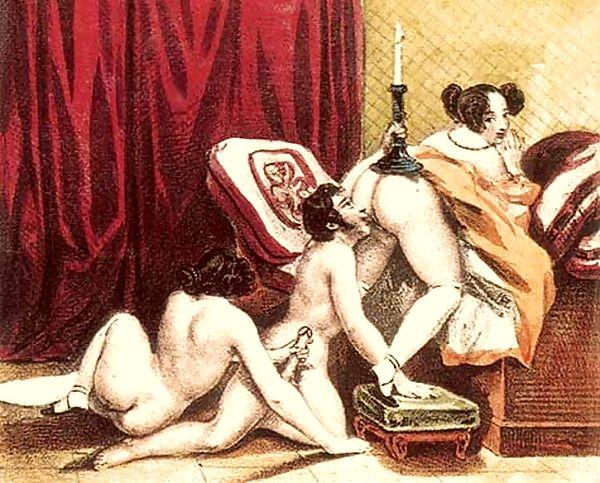 Рисованное индийское ретро эротика — pic 9