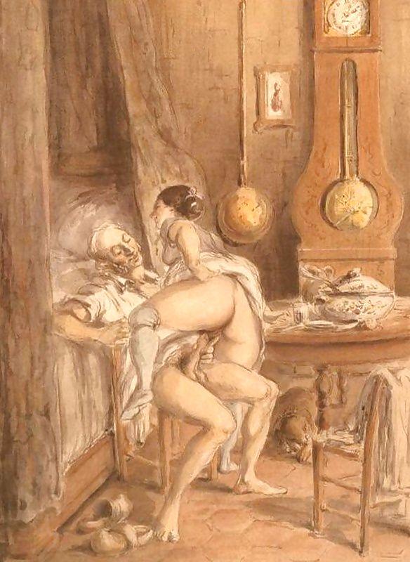 Эротические иллюстрации смотреть старинные